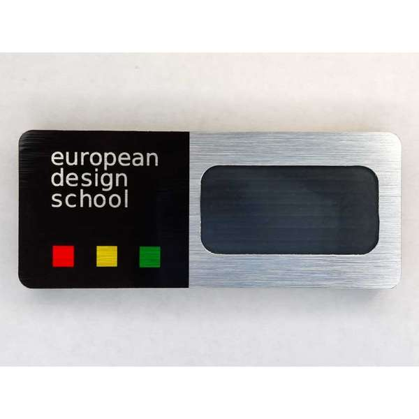 "Бейдж ""european design school"""